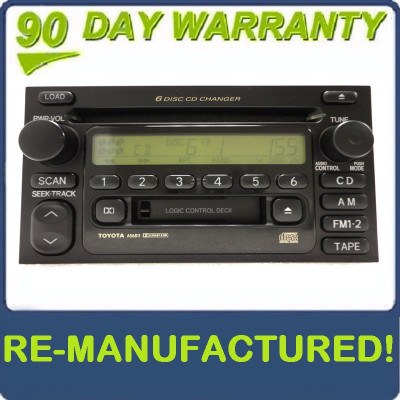 A56811 Toyota jbl radio 6 disc changer cd player new face oem