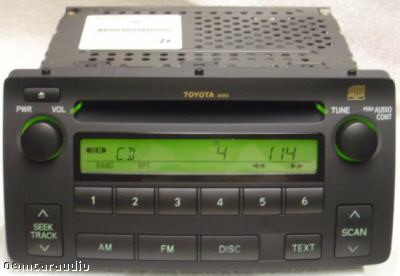 Toyota Corolla RDS Radio and CD Player 86120-02430 2003-2008