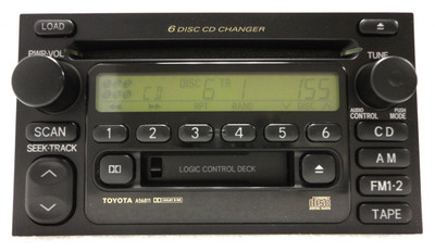 2000 - 2003 Toyota OEM  AM FM Radio Tape 6 Disc CD Changer Receiver A56811