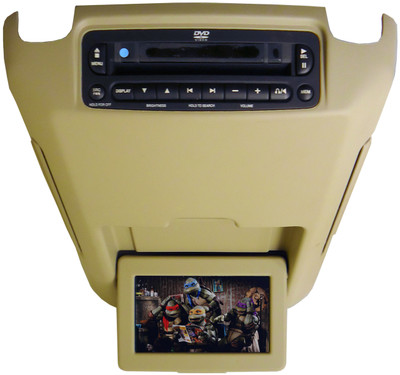 02 03 04 05 06 Ford Expedition Lincoln Navigator Mercury DVD Player Overhead Screen TAN