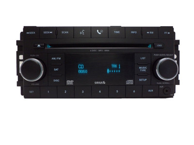 Chrysler Jeep Dodge Radio, AUX Port, Satellite, MP3, DVD and 6 CD Changer 07 08 09 2010 2011 2012