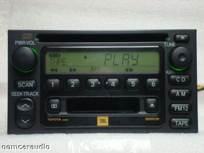 Toyota Camry Sequoia Tundra Sienna JBL Radio Tape and CD Player