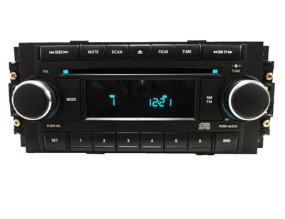 04-08 Chrysler Jeep Dodge Radio and CD Player With CHROME Knobs