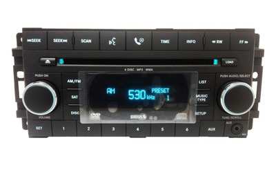 BRAND NEW Chrysler Jeep Dodge Radio, AUX Port, Satellite, MP3, DVD and 6 CD Changer 07 08 09 2010 2011 2012