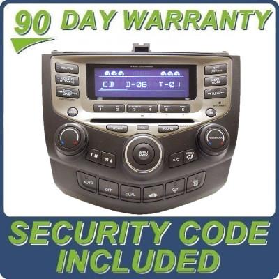 05 06 07 HONDA ACCORD OEM Radio Stereo SAT XM Aux 6 Disc Changer CD Player Dual Zone Auto Climate Temp Controls 7BO1
