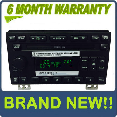 Brand New 01 02 03 04 05 Ford Explorer Mountaineer Mustang Radio and 6 CD Changer 2001 2002 2003 2004 2005