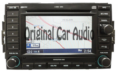 2005 - 2009 REC re-manufactured Dodge Chysler Jeep Navigation Radio 6 Disc CD Changer Player