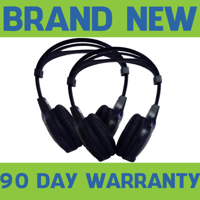 2003-2012 CADILLAC GM Chevy REAR ENTERTAINMENT HEADSETS HEADPHONES TV DVD 15185392