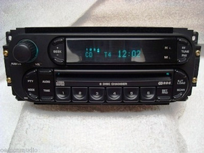 2003 - 2005 Chrysler Jeep Dodge OEM AM FM Radio 6  CD Changer Receiver RBQ