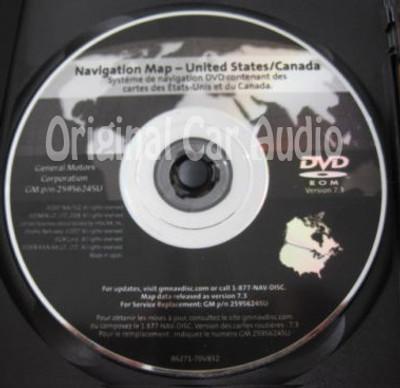 GM Satellite Navigation System CD 25956245 Version 7.3
