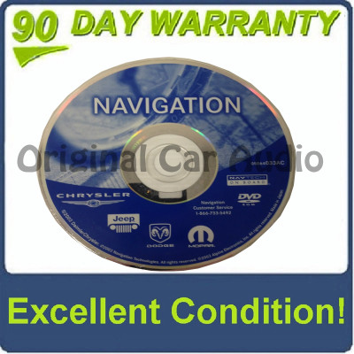 Chrysler Jeep Dodge RB1 Navigation Disc 05064033AC