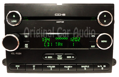 2007 - 2011 FORD Expedition AM FM Radio Stereo AUX 6 Disc Changer MP3 CD Player