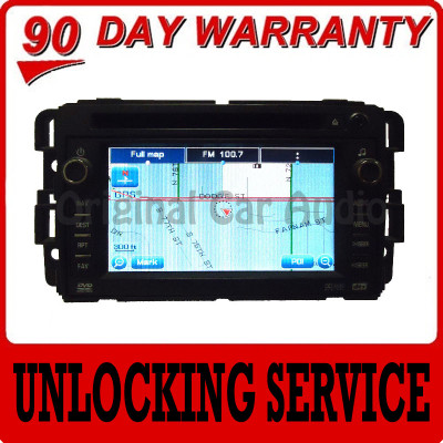 GM Chevy Chevrolet Cadillac GMC Navigation GPS Radio Unit UNLOCKING SERVICE