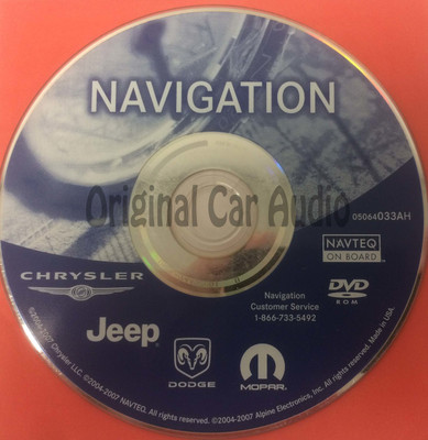 Jeep Commander Grand Cherokee Liberty OEM Navigation Map DVD 05064033AH