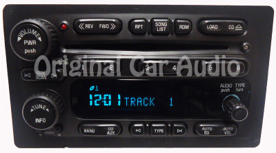 GMC Radio 6 Disc CD Changer OEM Stereo AM FM Receiver