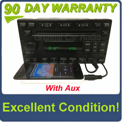 1998 - 2007 Ford Lincoln Mercury Single MP3 CD Player Satellite Radio ADDED AUX