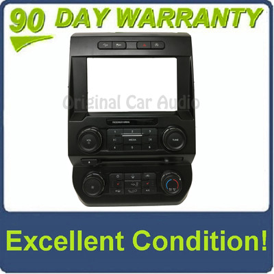 "2015 - 2017 Ford F150 OEM 8"" Touch Screen Radio Control Climate Control w/Heated Seat Options Bezel ONLY"