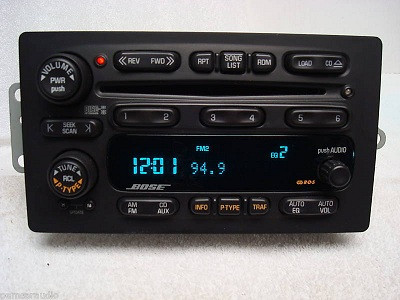 02 - 05 Chevy GMC Envoy Bose RDS Radio 6 CD Player