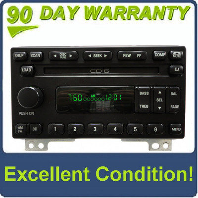 REMANUFACTURED 01 - 05 Ford Explorer Mountaineer Mustang Radio and 6 CD Changer 2001 2002 2003 2004 2005