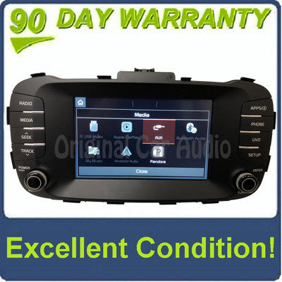 2017 - 2018 Kia Soul OEM UVO Touch Screen AM FM Bluetooth Media Radio Receiver
