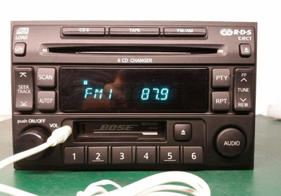 1996 1997 1998 1999 2000 2001 2002 2003 2004 NISSAN Pathfinder SE LE Maxima BOSE Radio 6 Disc Changer w/AUX Tape Cassette CD Player