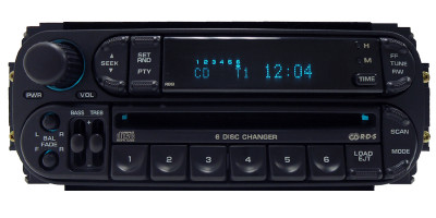 Chrysler Jeep Dodge Radio and 6 CD Changer RBQ OEM with New Mechanism