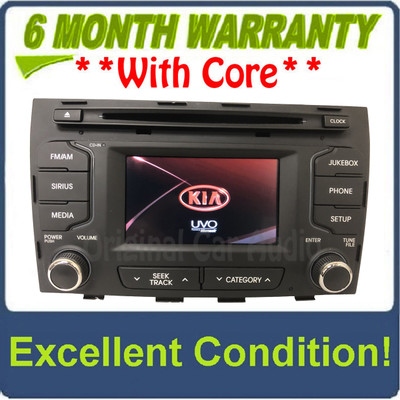 2010 - 2013 Kia Sportage OEM UVO Touch Screen Single CD Multimedia Radio Receiver BLACK