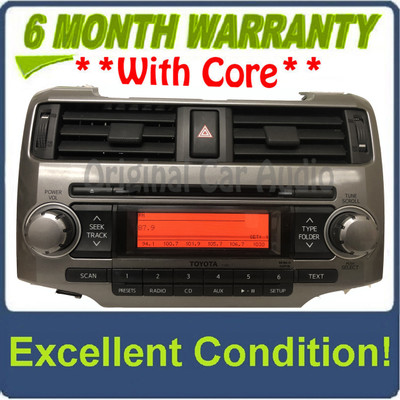 2010 - 2014 Toyota 4Runner OEM Single CD AM FM MP3 Radio Reciever P1851