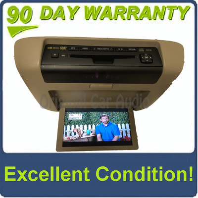 2008 - 2013 Toyota Highlander OEM Overhead Roof DVD Player Display Screen Entertainment Monitor