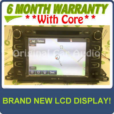Reman 2014 - 2015 Toyota Highlander OEM Gracenote Navigation HD Radio Receiver 57064