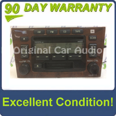 2000 - 2004 Toyota Avalon OEM JBL Single CD Player Radio Receiver 16825