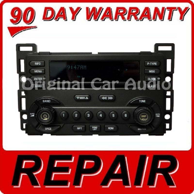 Repair 2004 - 2008 Chevy Chevrolet Pontiac Malibu Equinox G6 Torrent OEM Radio CD Repair Service