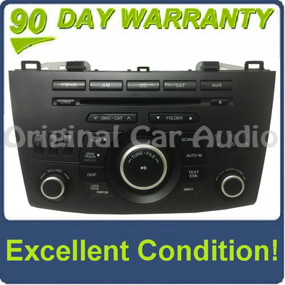 2010 - 2013 Mazda 3 OEM BOSE MP3 CD Player AM FM SAT XM Radio Receiver BLACK BUTTONS