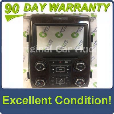 """2012 - 2014 Ford F150 OEM 8"""" Touch Screen Display Bezel and Radio Control Pannel ONLY  Dark Woodgrain"""