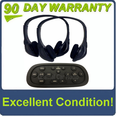 2015 - 2016 Cadillac Chevrolet Chevy GMC Wireless Headphone and OEM Remote Rear Seat Entertainment