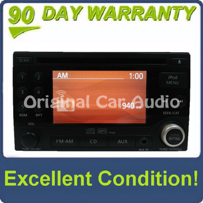 2009-2012 Nissan Sentra OEM IPOD Radio CD Player AM FM Aux 28185 ZT50B