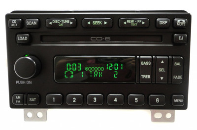 Reman 2004 - 2006 FORD Mustang Explorer Expedition Mountaineer OEM Satellite SIRIUS XM AM MF Radio Stereo 6 Disc CD Player Receiver