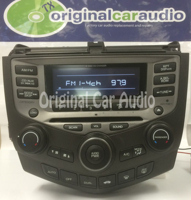 New Mech 2004 - 2007 Honda Accord OEM AM FM Radio 6 CD Changer