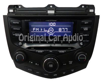 2003 2004 2005 2006 2007 Honda Accord Radio 6 Disc CD Changer Player Aux 7BL0