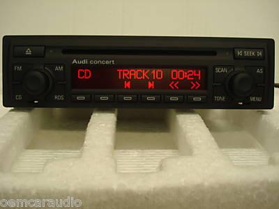 New 1998 1999 2000 2001 2002 2003 2004 2005 Audi S4 S6 A4 A6 TT 1.8T Concert II CD Player Radio