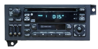 Used 96 97 98 99 2000 01 Jeep Dodge Chrysler Radio Cassette and CD Player Ch103