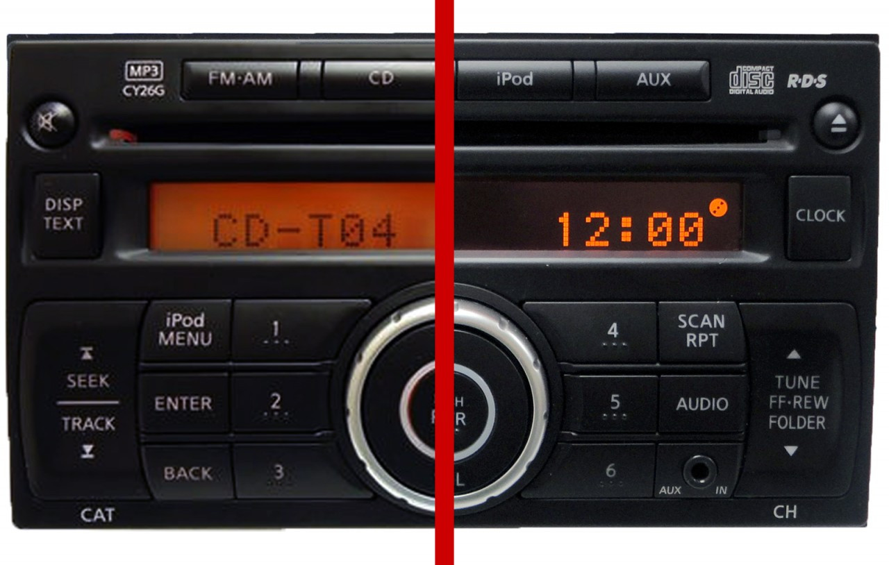 07 08 11 Nissan Versa Cube Xterra Radio Stereo CD MP3 Player