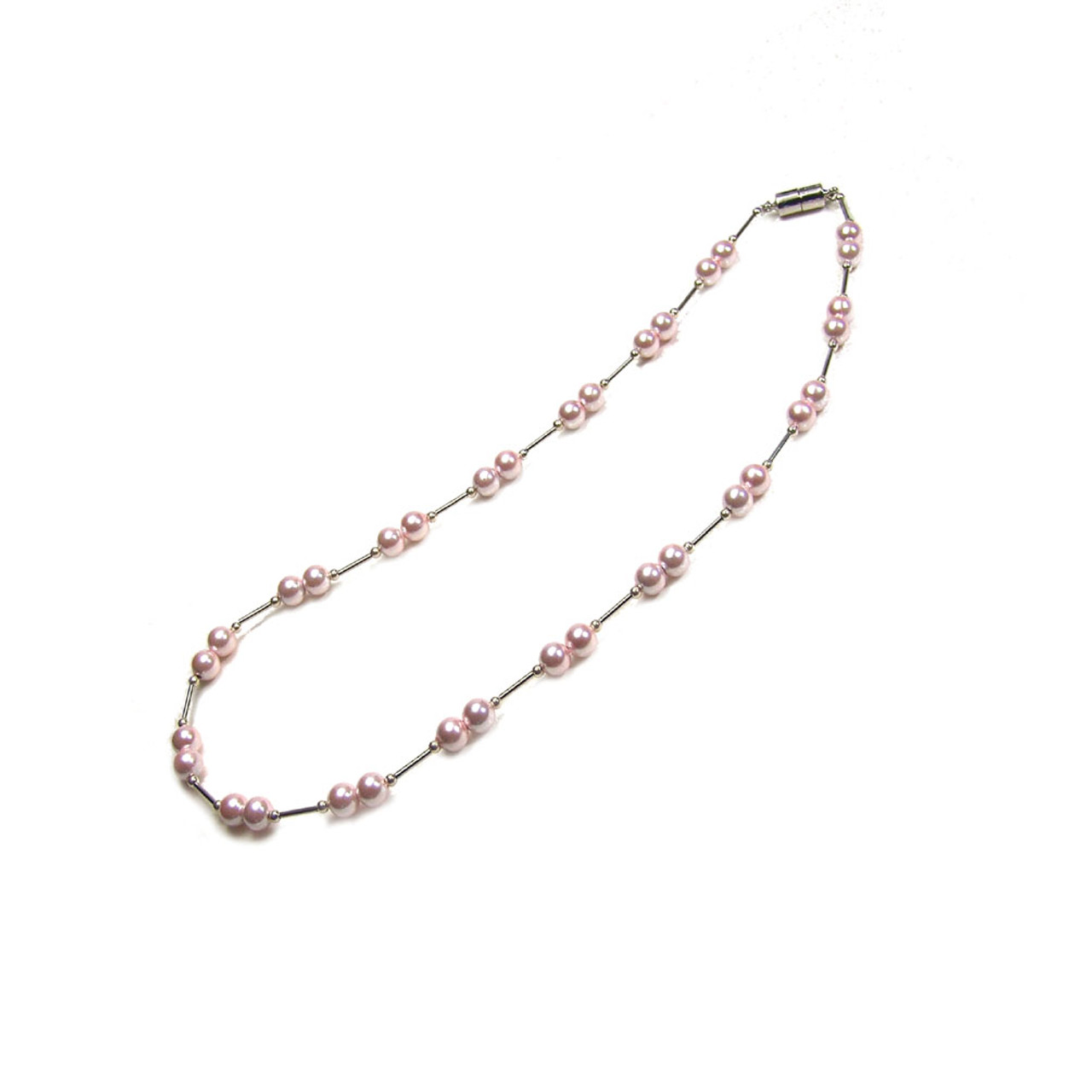 Accents Kingdom Womens Magnetic Hematite Necklace W Twist Beads A