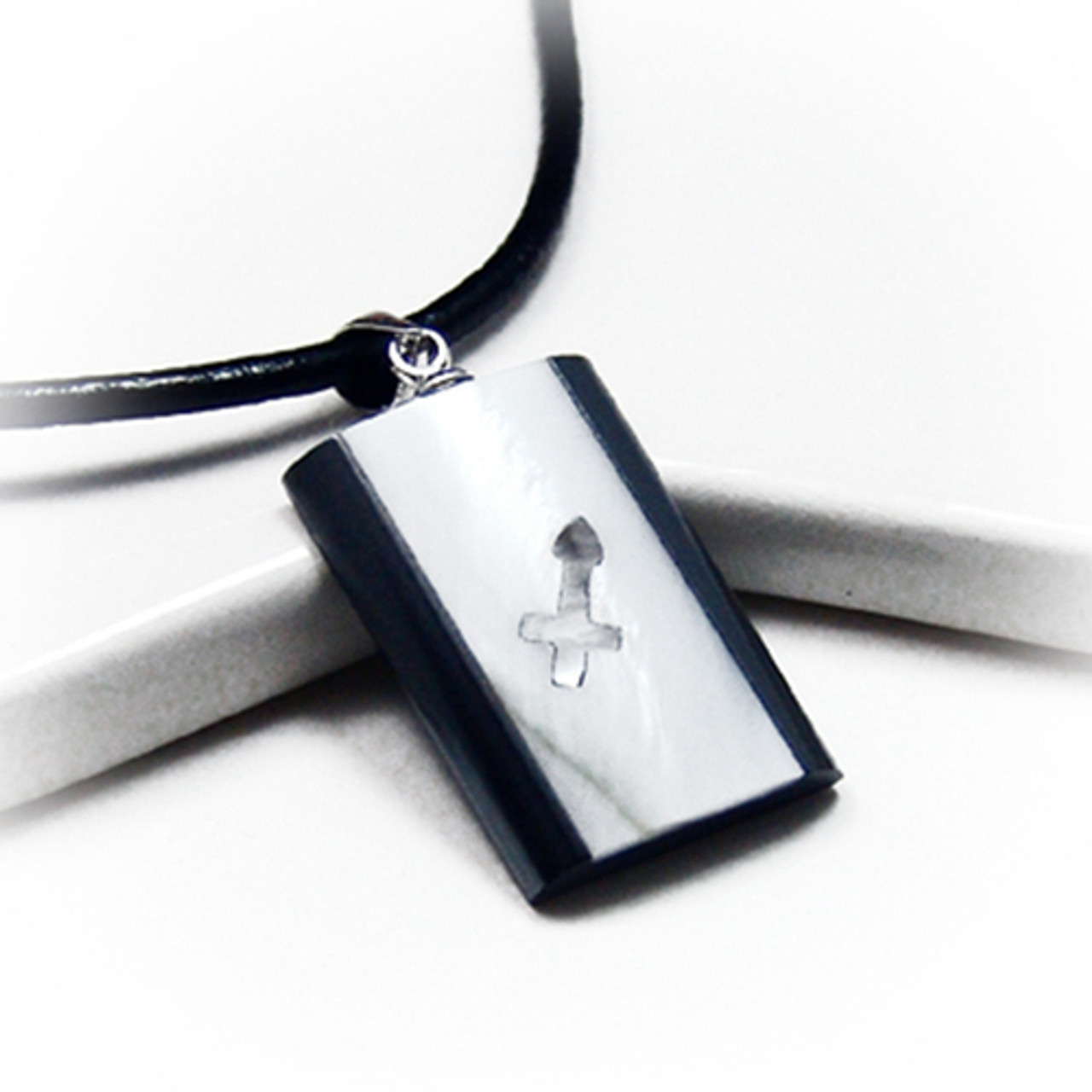 Sagittarius zodiac sign Necklace Horoscope Symbol Silver color Dichroic Glass Jewelry Handmade By ZulaSurfing