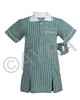 School Wear Uniform Gingham Dress (Ayra) Bottle Green