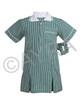 School Wear Uniform Gingham Dress (Ayra) Bottle Green