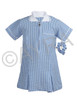 School Wear Uniform Gingham Dress (Ayra) Sky Blue
