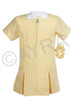 School Wear Uniform Gingham Dress (Ayra) Yellow Gold