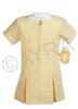 School Wear Uniform Gingham Dress (Ayra) Yellow Gold