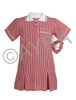 School Wear Uniform Gingham Dress (Ayra) Red